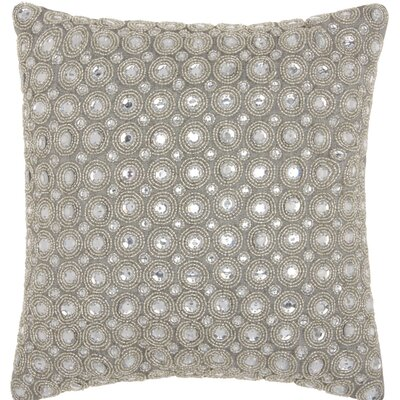 Azu Beads Throw Pillow Color: Silver
