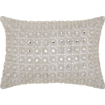 Sarahi Beads Lumbar Pillow Color: White