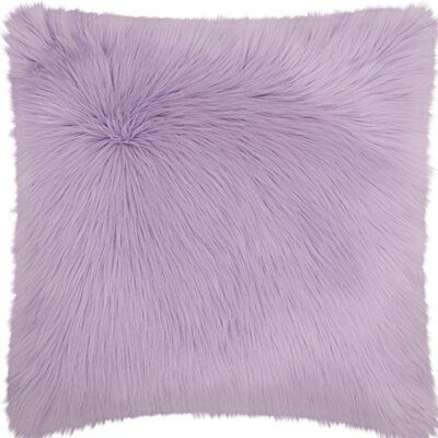 Yaritza Faux Fur Throw Pillow Color: Lavender