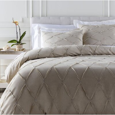 Teresa Duvet Cover Set Color: Light Gray, Size: Twin