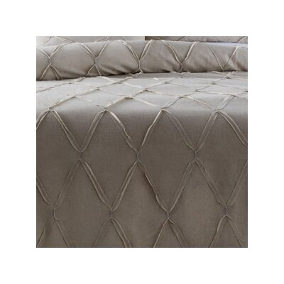 Teresa Duvet Cover Color: Light Gray, Size: Full / Queen