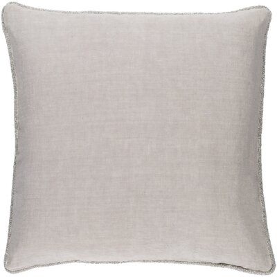 Sera Down Throw Pillow Size: 18 H x 18 W x 4 D, Color: Light Gray