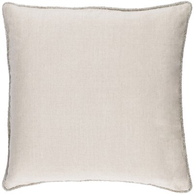 Sera Polyester Throw Pillow Size: 20 H x 20 W x 4 D, Color: Ivory