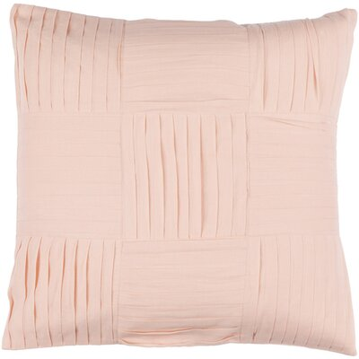Doutzen Cotton Throw Pillow Size: 18 H x 18 W x 4 D, Color: Salmon
