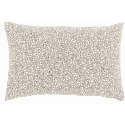 Quinn Throw Pillow Color: Ivory/Light Gray