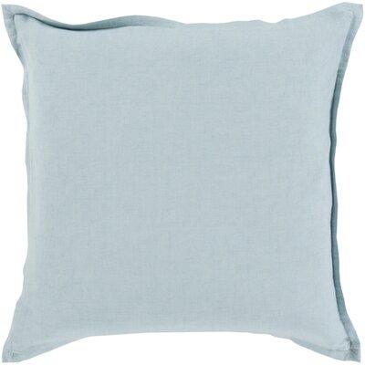 Westerham Cotton & Linen Throw Pillow Size: 18 H x 18 W x 4 D, Color: Slate