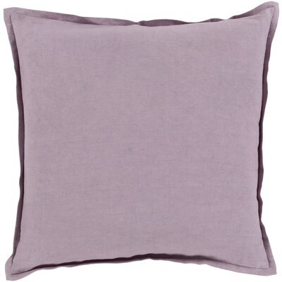 Cort Cotton & Linen Throw Pillow Size: 22 H x 22 W x 4 D, Color: Lavender