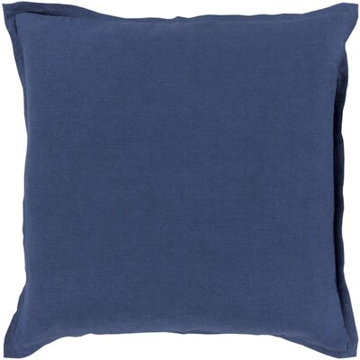 Westerham Cotton & Linen Throw Pillow Size: 22 H x 22 W x 4 D, Color: Cobalt