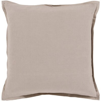 Cort Cotton & Linen Throw Pillow Size: 20 H x 20 W x 4 D, Color: Taupe