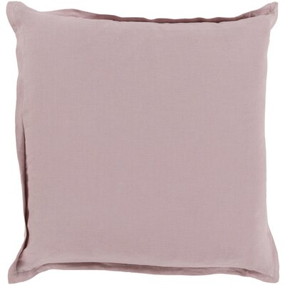 Cort Cotton & Linen Throw Pillow Size: 18 H x 18 W x 4 D, Color: Salmon