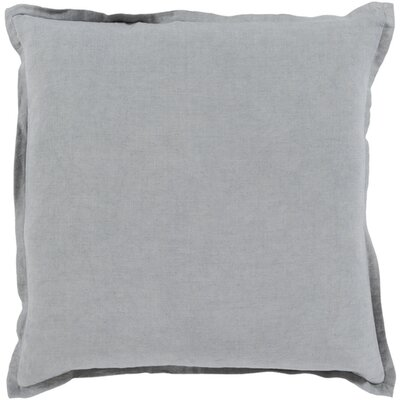 Westerham Cotton & Linen Throw Pillow Color: Dark Gray, Size: 20 H x 20 W x 4 D