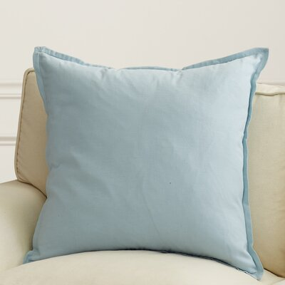 Westerham Cotton & Linen Throw Pillow Size: 22 H x 22 W x 4 D, Color: Sky Blue