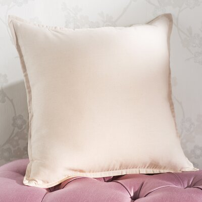 Westerham Cotton & Linen Throw Pillow Size: 22 H x 22 W x 4 D, Color: Beige