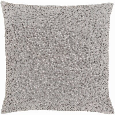Selleck Square Throw Pillow Color: Light Gray/Taupe