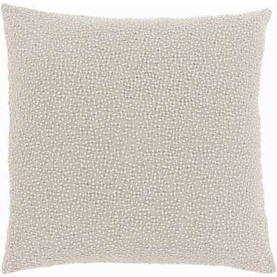 Selleck Square Throw Pillow Color: Ivory/Light Gray