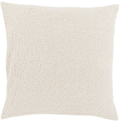 Selleck Square Throw Pillow Color: Ivory