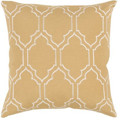Honiton Throw Pillow Size: 20 H x 20 W x 4 D, Color: Gold