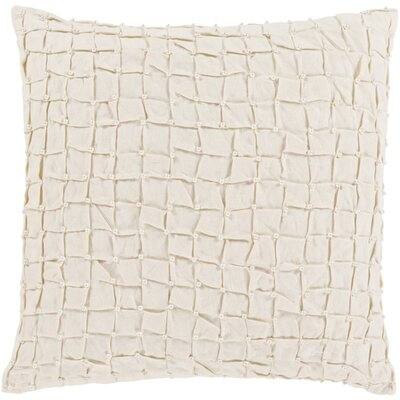 Curtiss Square Throw Pillow Color: Ivory