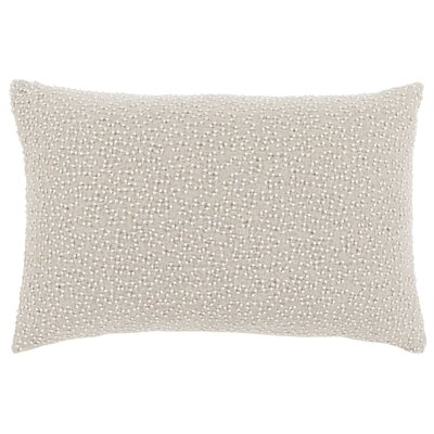 Selleck Lumbar Pillow Color: Ivory / Light Gray