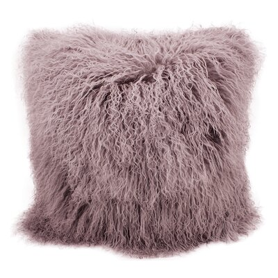 Burel Sheepskin Throw Pillow Color: Lavender