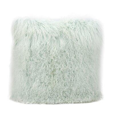 Burel Sheepskin Throw Pillow Color: Seafoam