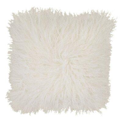 Burel Sheepskin Throw Pillow Color: White