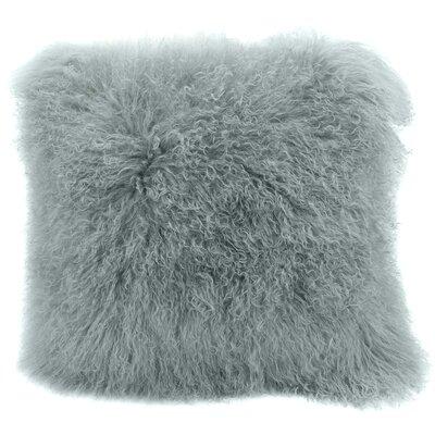 Burel Sheepskin Throw Pillow Color: Celadon