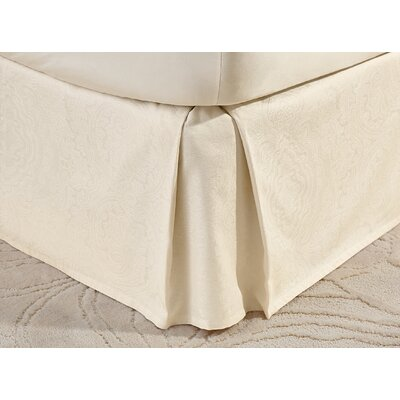 Deveral Cotton Naturals Jacquard Bed Skirt Size: Queen