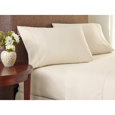 Deveral Cotton Naturals Stripe Pillowcase Size: Large