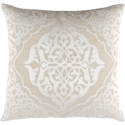 Dylan Throw Pillow Size: 20 H x 20 W x 4 D, Color: Khaki/Ivory