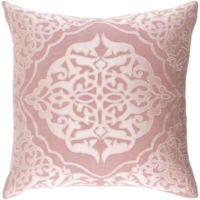 Dylan Linen Throw Pillow Size: 22 H x 22 W x 4 D, Color: Rose/Blush