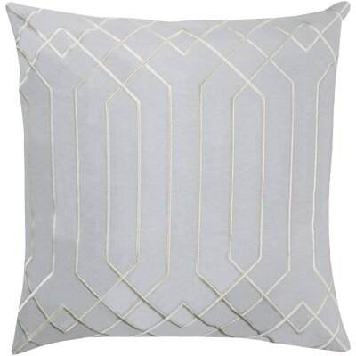 Honiton Linen Throw Pillow Size: 22 H x 22 W x 4D, Color: Light Gray