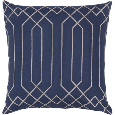 Honiton Linen Throw Pillow Size: 22 H x 22 W x 4D, Color: Cobalt