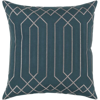 Kaivhon Traditional Linen Throw Pillow Size: 20 H x 20 W x 4D, Color: Teal