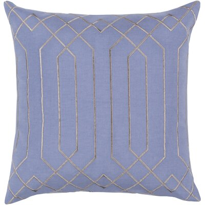 Honiton Linen Throw Pillow Size: 22 H x 22 W x 4D, Color: Sky Blue