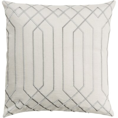 Honiton Linen Throw Pillow Size: 18 H x 18 W x 4 D, Color: Ivory