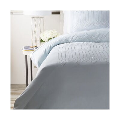 Tilstone Duvet Cover Color: Light Blue, Size: Full / Queen