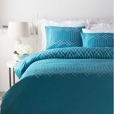 Kingsbridge 3 Piece Duvet Cover Set Size: Full / Queen, Color: Blue