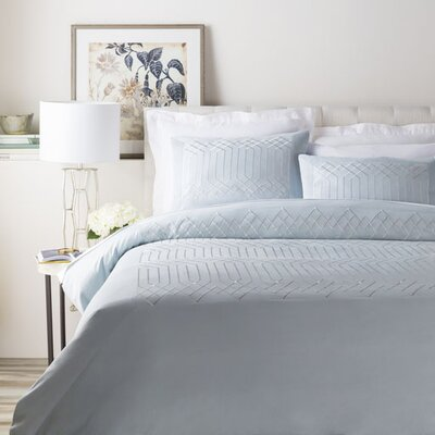 Kingsbridge 3 Piece Duvet Cover Set Color: Light Blue, Size: Full / Queen