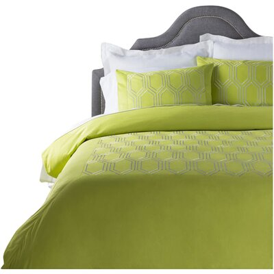 Brettany Duvet Cover Set Size: Full / Queen, Color: Green