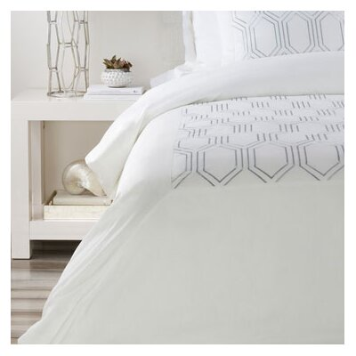 Brettany Duvet Cover Color: Ivory, Size: Twin