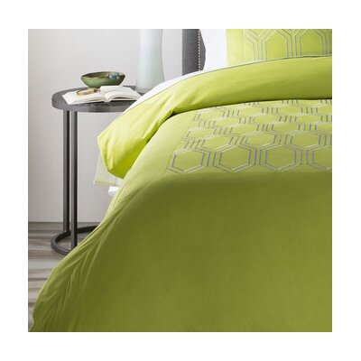 Brettany Duvet Cover Size: King, Color: Green