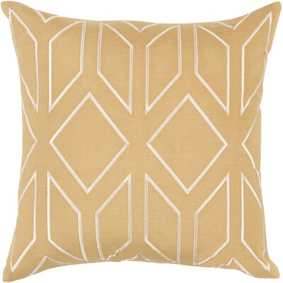 Honiton Geometric Linen Throw Pillow Size: 22 H x 22 W x 4 D, Color: Gold
