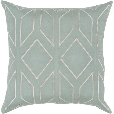 Honiton Geometric Linen Throw Pillow Size: 22 H x 22 W x 4 D, Color: Moss
