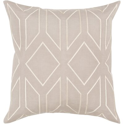 Honiton Linen Throw Pillow Size: 22 H x 22 W x 4 D, Color: Gray
