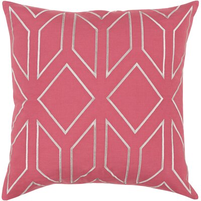 Honiton Geometric Linen Throw Pillow Size: 22 H x 22 W x 4 D, Color: Carnation