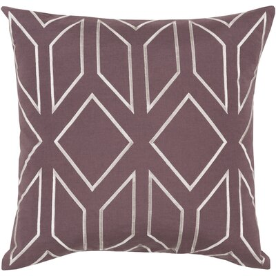 Honiton Linen Throw Pillow Size: 18 H x 18 W x 4 D, Color: Eggplant