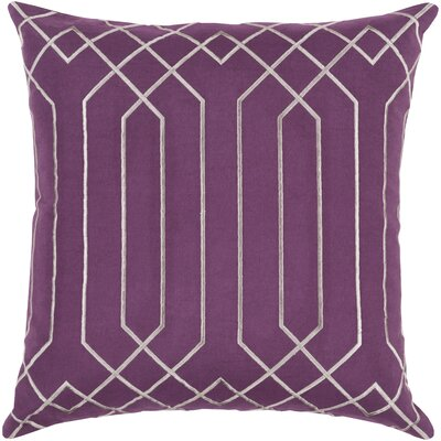 Honiton Linen Throw Pillow Size: 22 H x 22 W x 4 D, Color: Eggplant