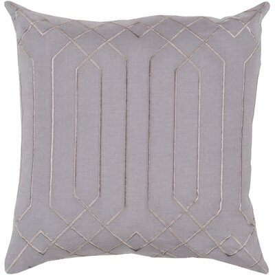 Honiton Linen Throw Pillow Size: 20 H x 20 W x 4 D, Color: Charcoal