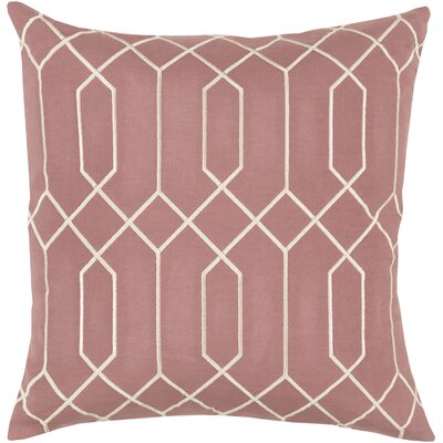Honiton Linen Throw Pillow Size: 22 H x 22 W x 4 D, Color: Rust